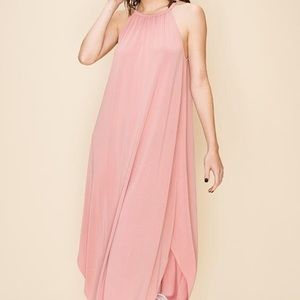 Easy Lifestyle Maxi Dress in Indie Pink
